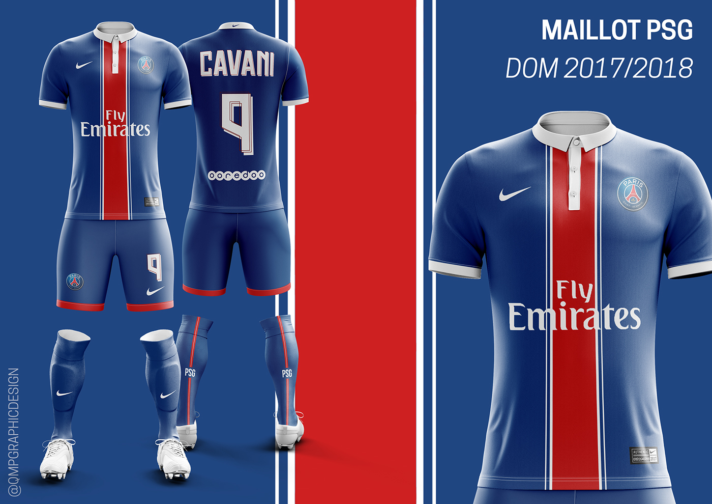 Maillot ligue 1 2017 2018 on behance for Maillot exterieur psg