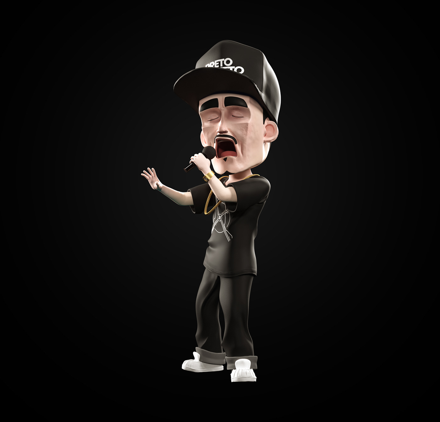 3D Character hiphop macote Mascot Modelagem modelling music personagem rap