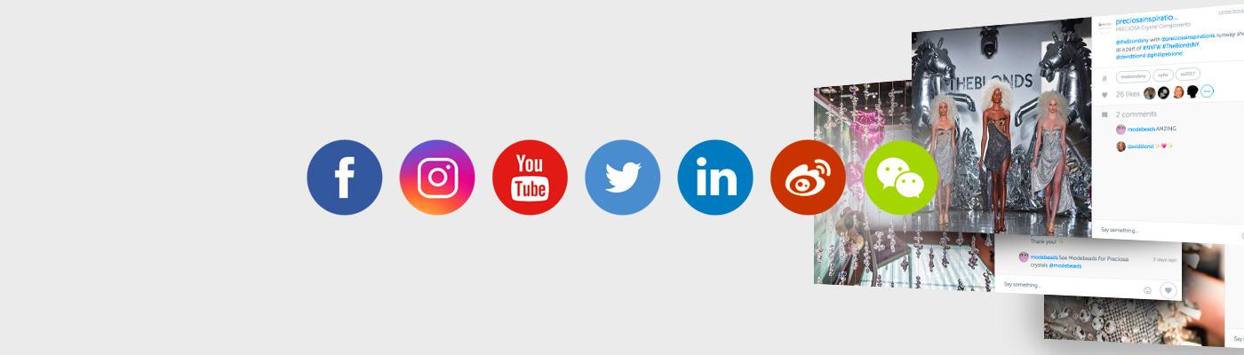 Preciosa social media crystal microsite