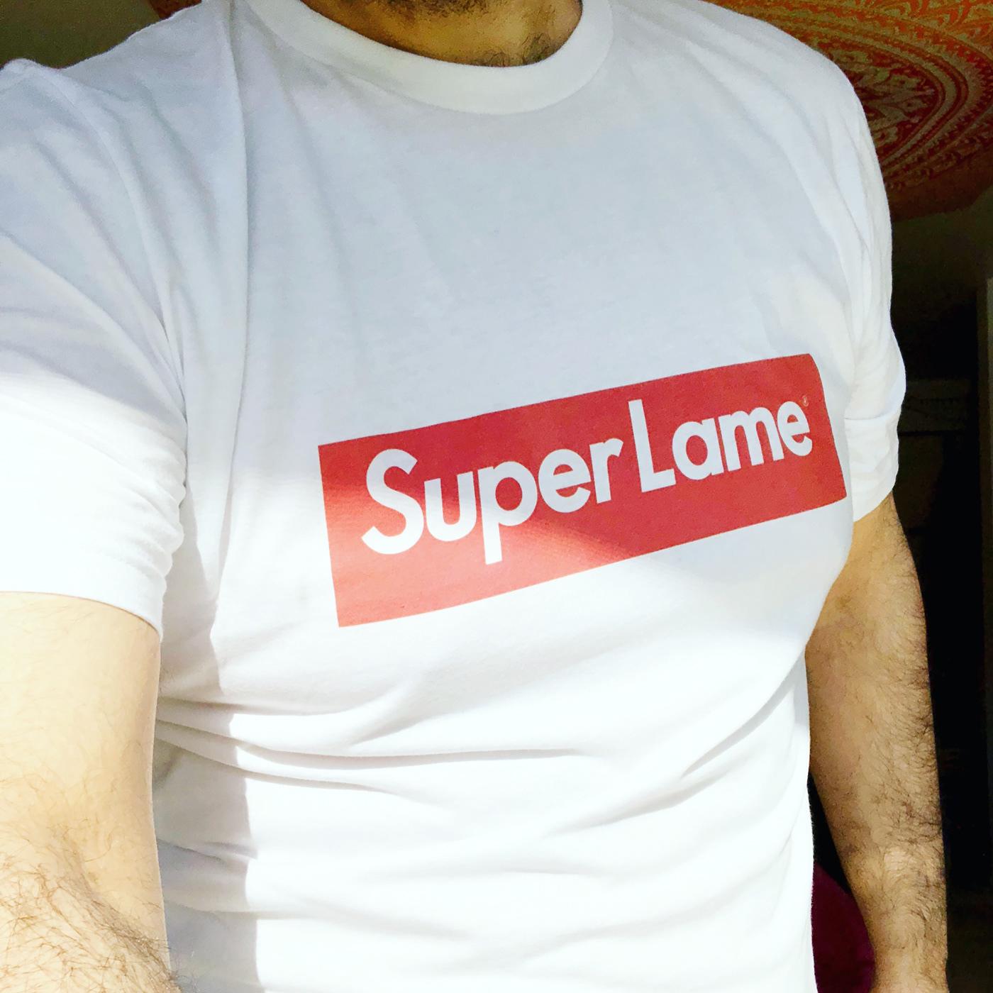 Parody design typography   red White tshirt Fashion  alternative