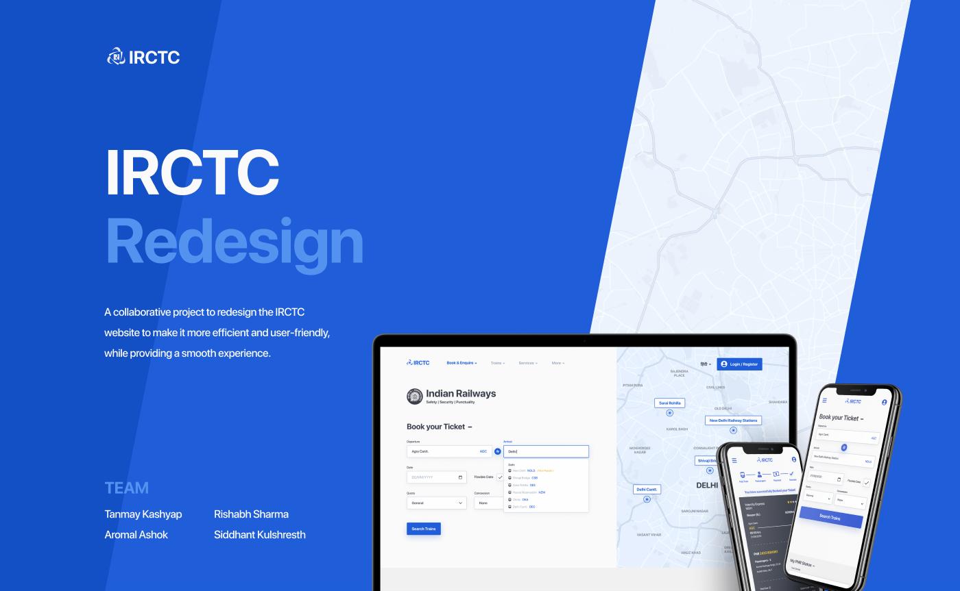 Interface irctc mobile redesign research train UI ui design ux Website