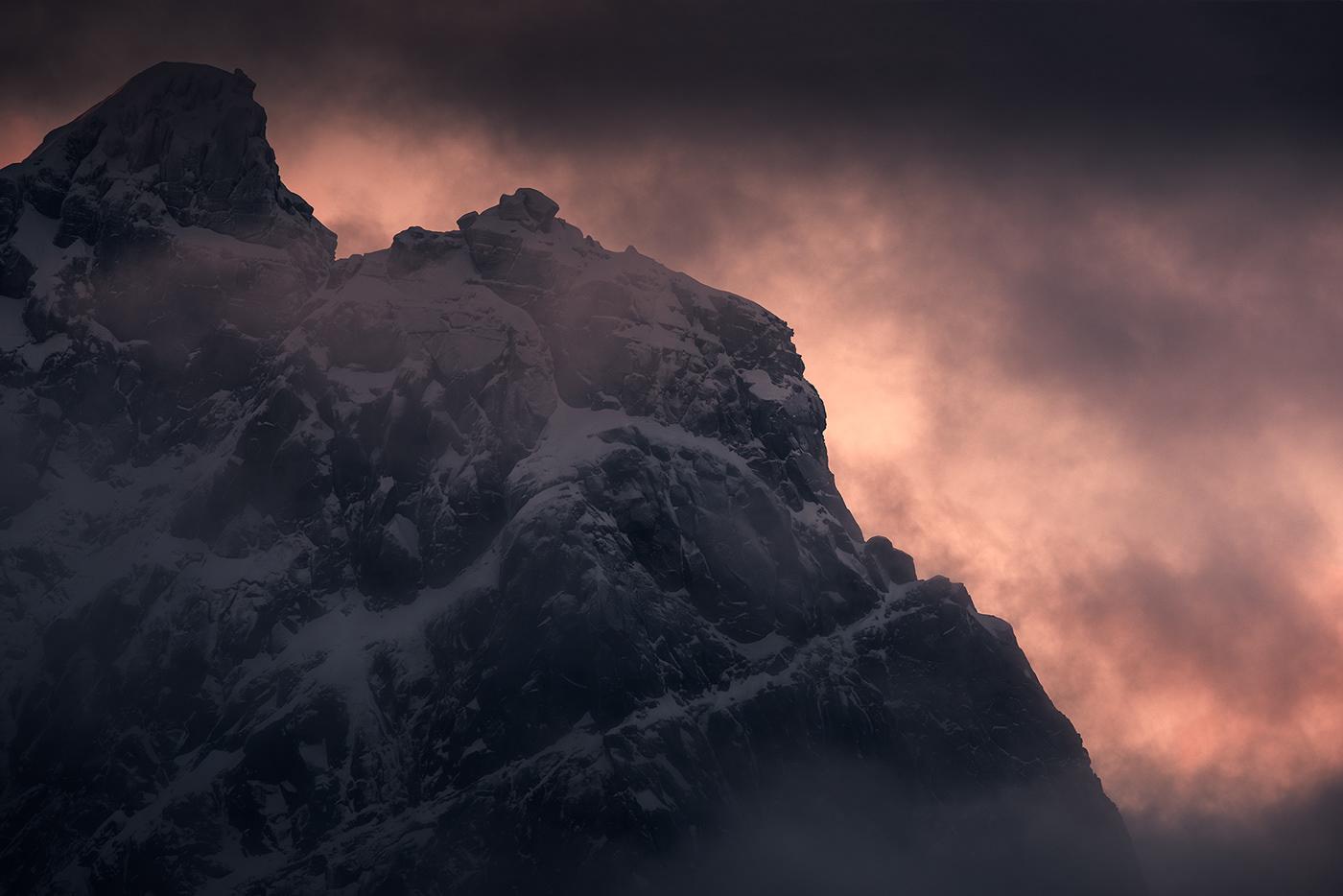 Photography  landscape photography Nature outdoors lofoten norway Arctic mountains digital photography  photoshop