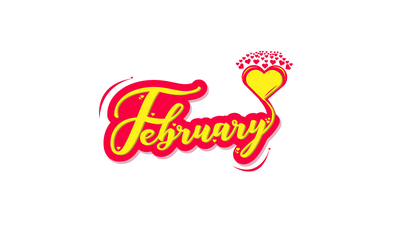 2018 typography art typography words typography   months lettering march january February