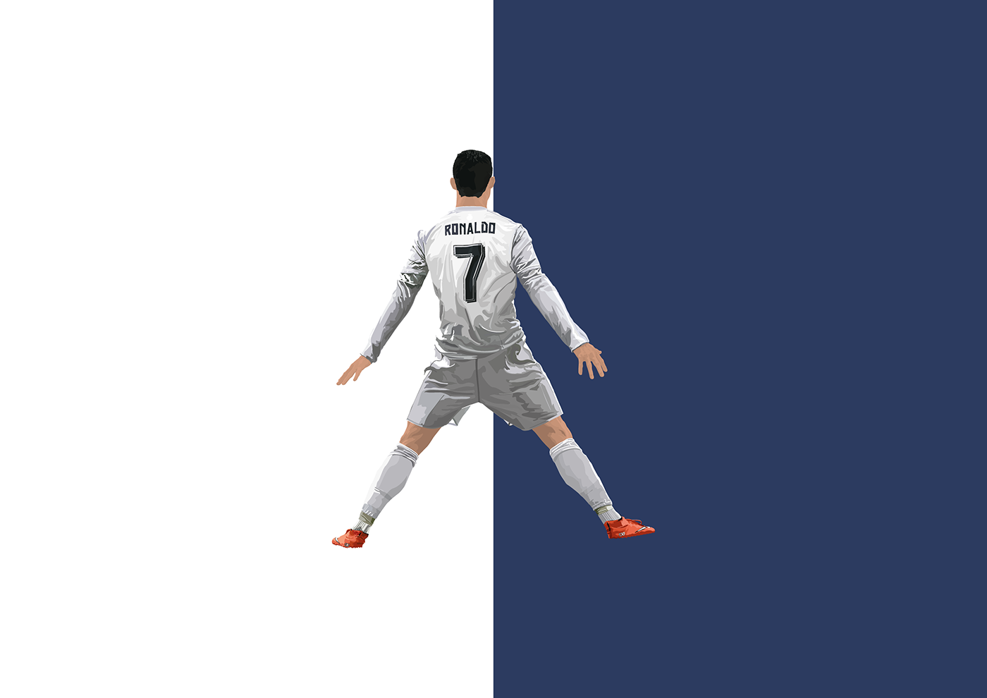 CR7 cristiano ronaldo Ronaldo Real Madrid adidas infographic print vector typography   stats
