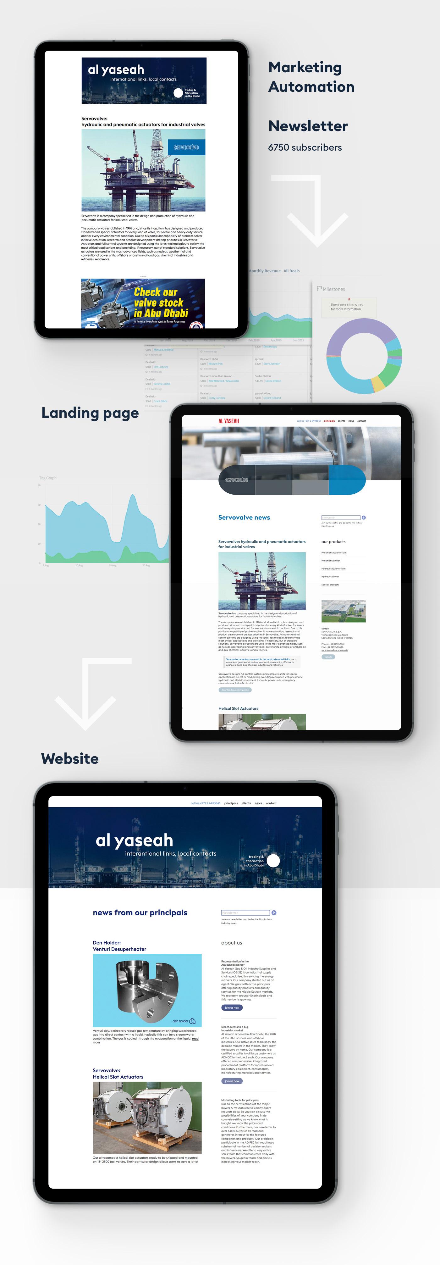 corporate branding corporate identity strategic design Website brochure profile B2B communication Marketing automation content