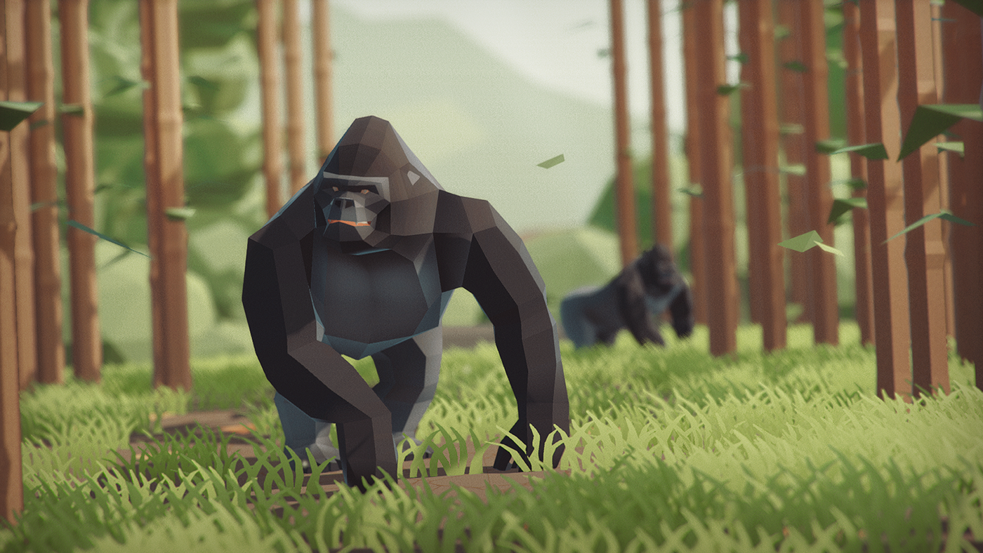 lowpoly animated animals Gaming unity3D elephant LOW poly 3D dinosaurs
