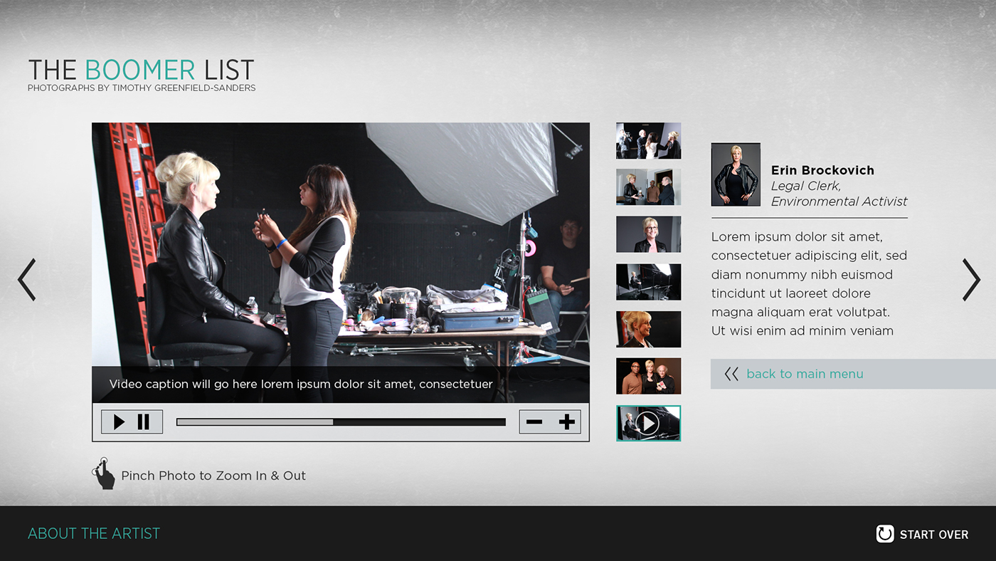 Behind the Scenes Interactive on Behance