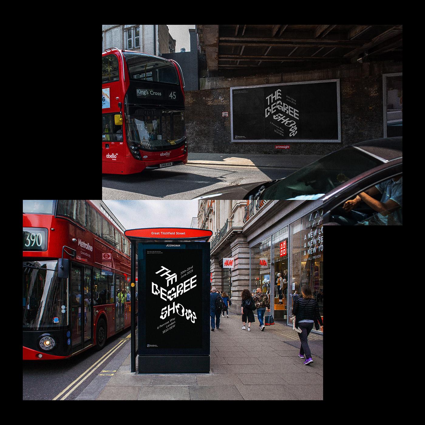 motion kinetic movement adobeawards branding  Ravensbourne augmented reality KineticTypography typography