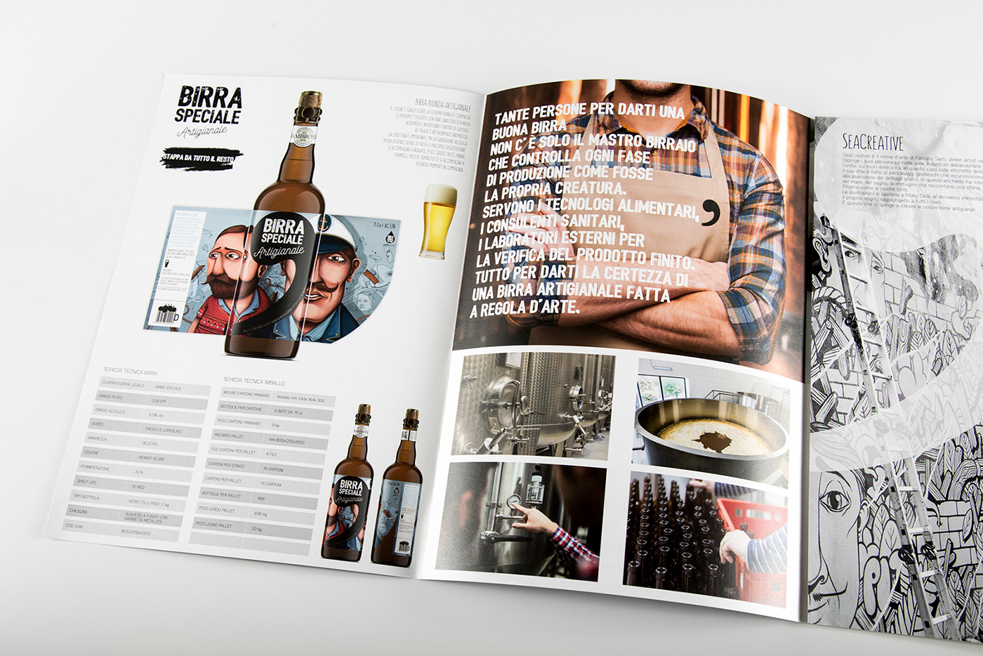 brochure ILLUSTRATION  beer Street Art  branding  sea creative basile adv Birra catalogo Label