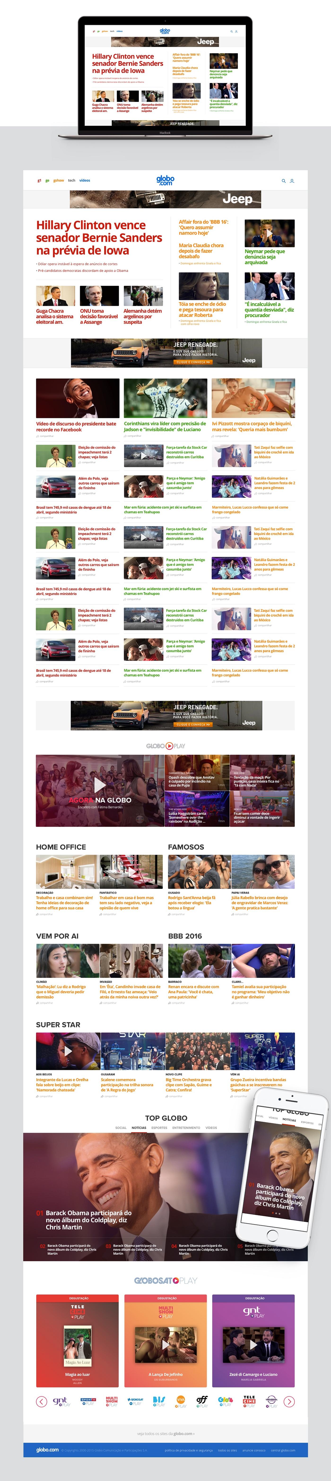 Globo home page home editorial news Responsive