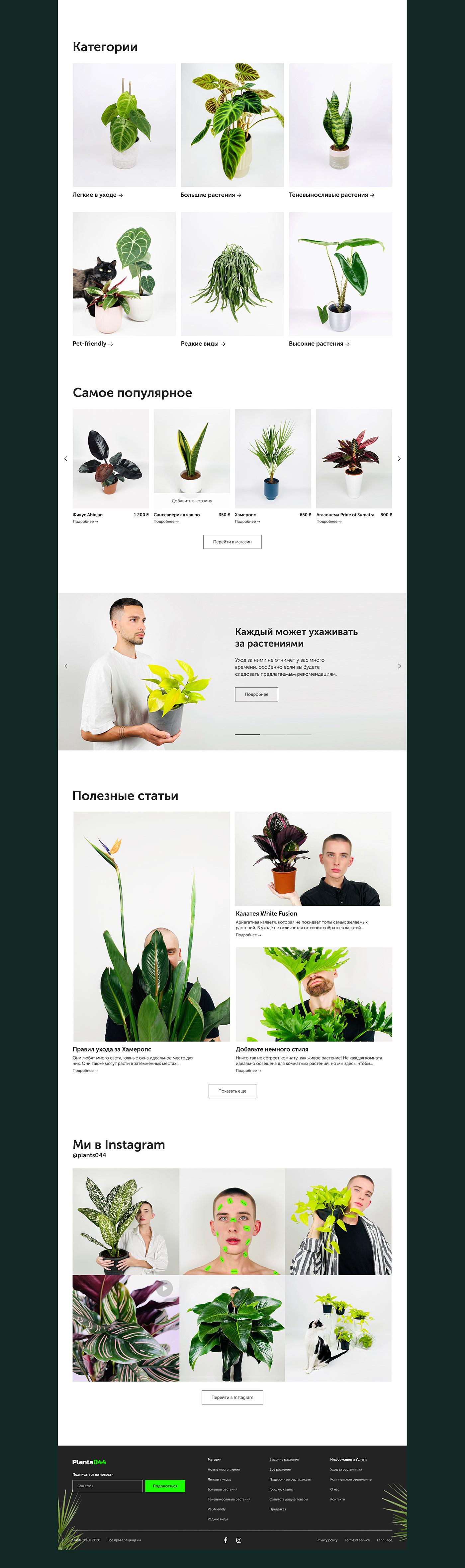 Ecommerce plants site store UI/UX Website mobile online shop Web