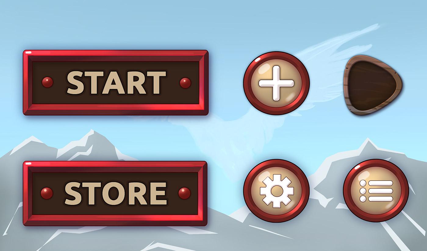 art concept art Game Assets game design  hommage ILLUSTRATION  mobile game ui game