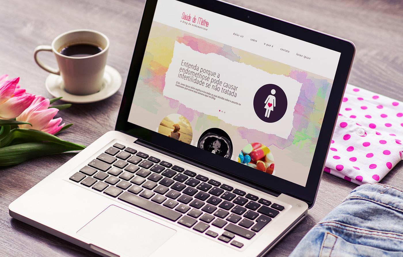 Web Design  Layout clean site Blog