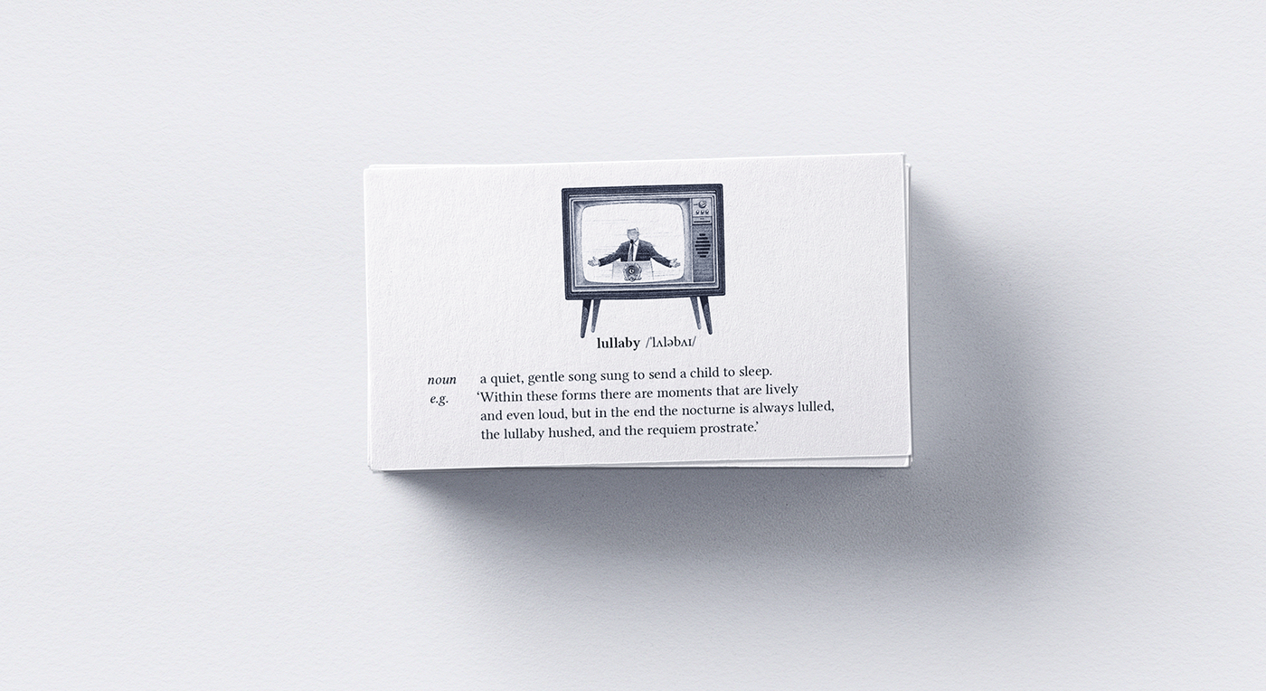 Vocabulary | Little word cards on Behance