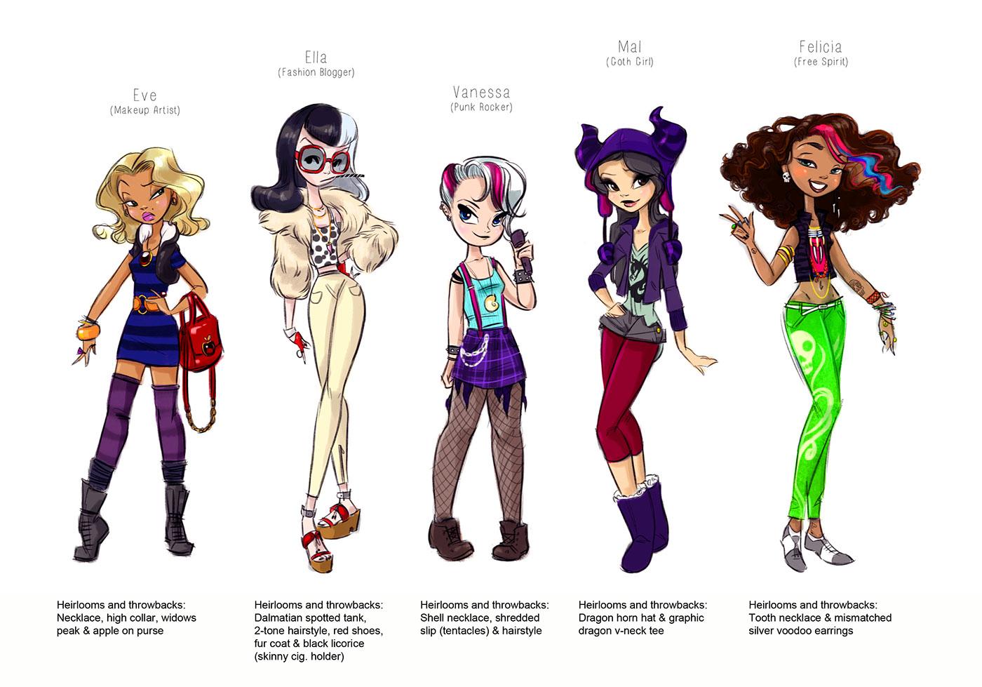 Character Design Jobs Disney : Disney descendants character explorations on behance