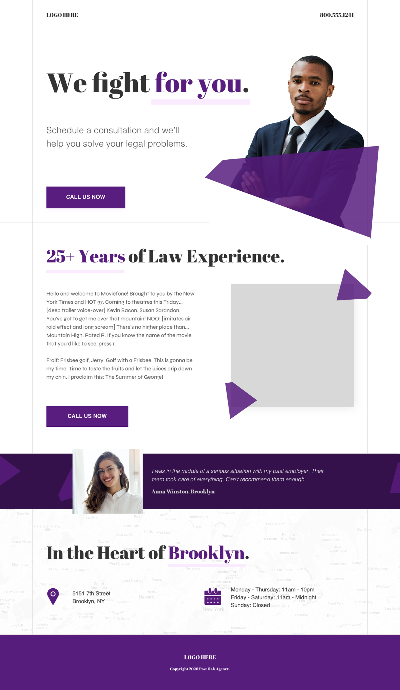 attorney landing page law law firm lawyer Web Design
