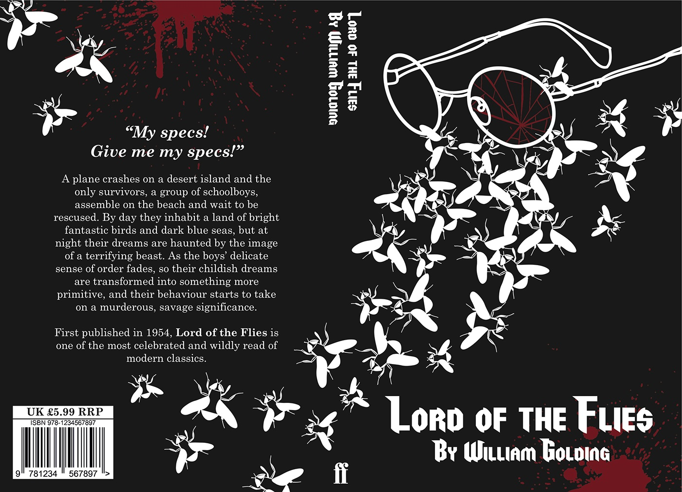 Book Cover Design Jobs London : Book cover design lord of the flies on behance