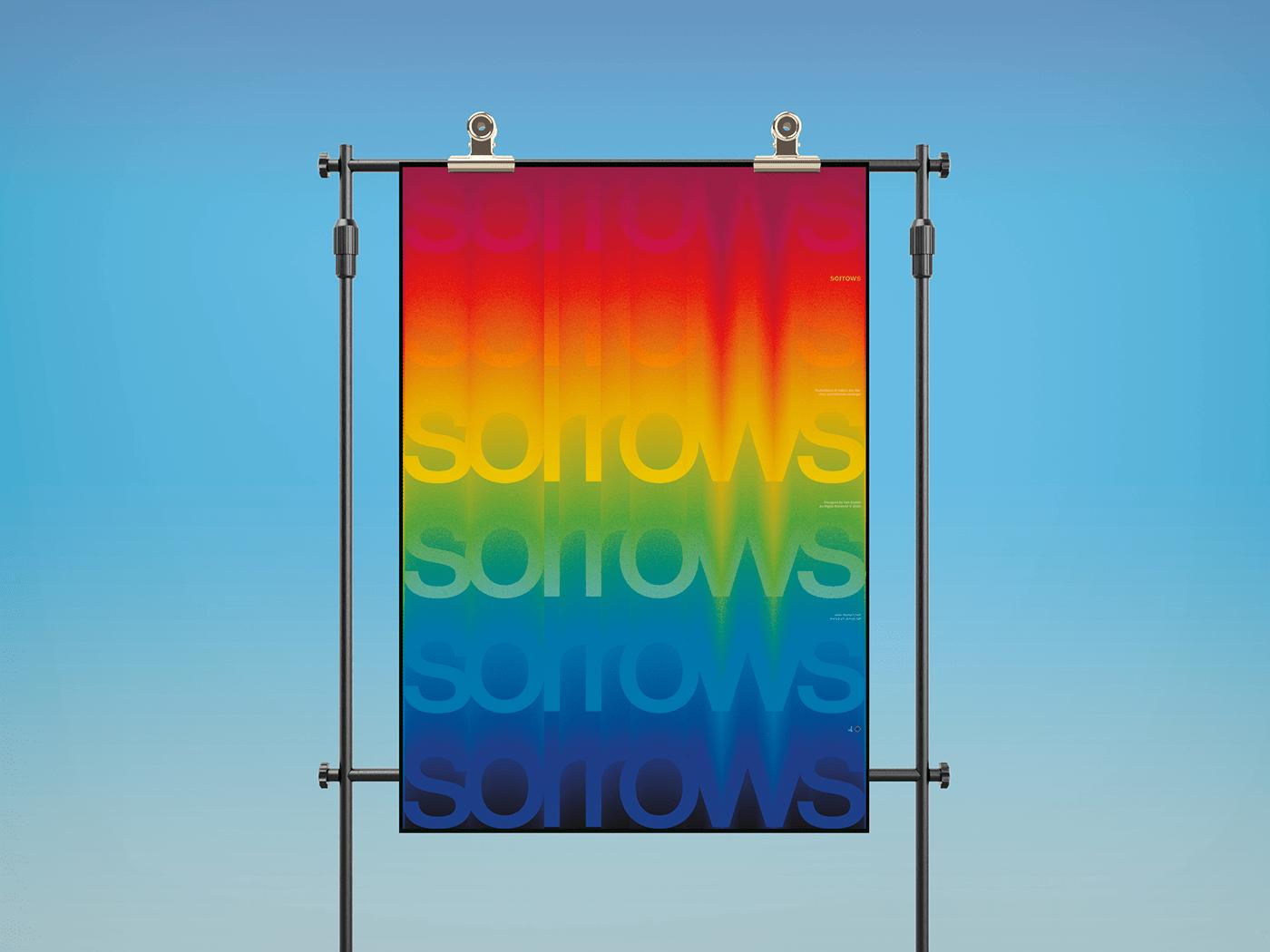 design gradient typography   ILLUSTRATION  cover poster apparel albumart color