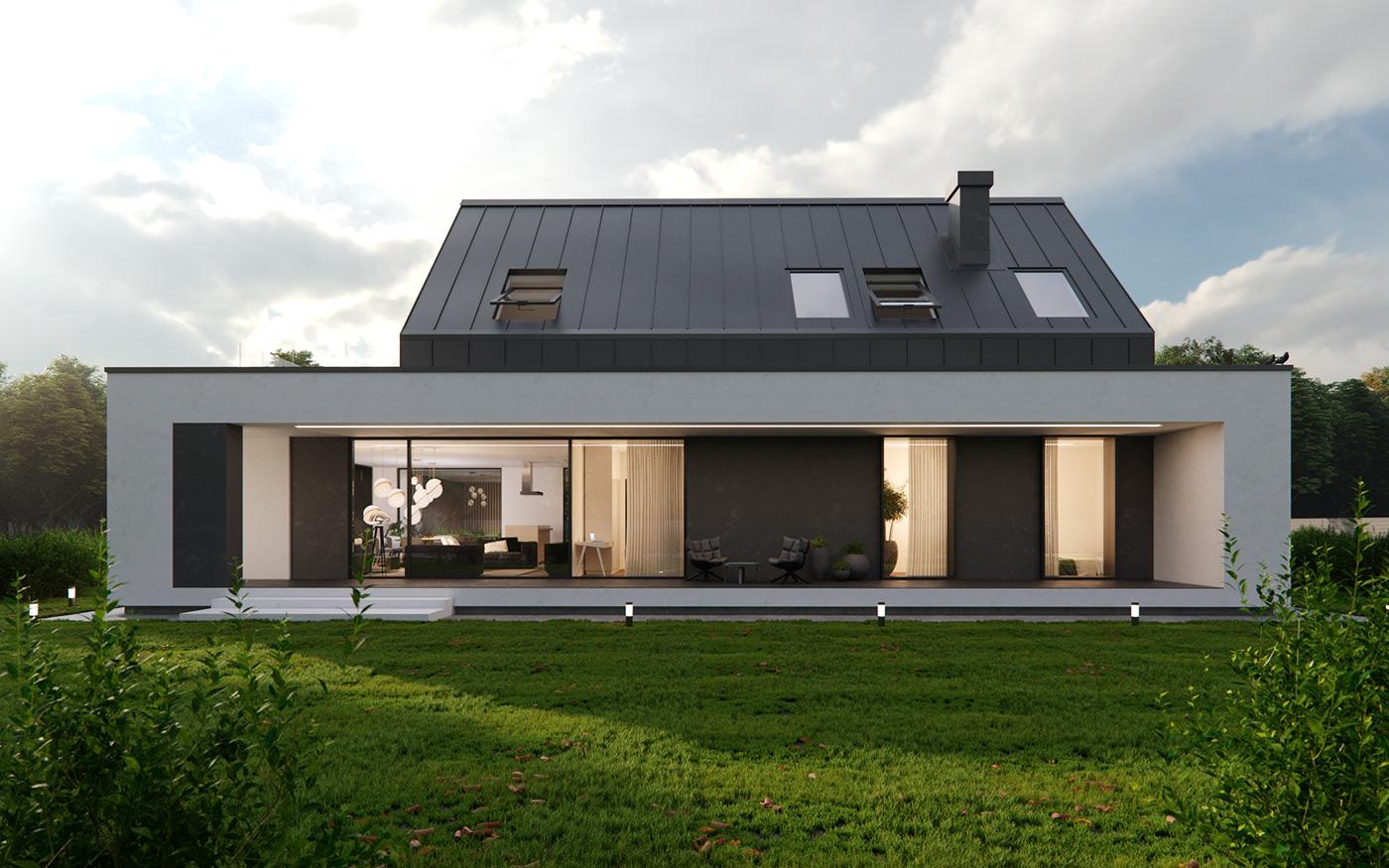 housing architecture house coronarenderer residential design realestate exterior 3dsmax 3drendering