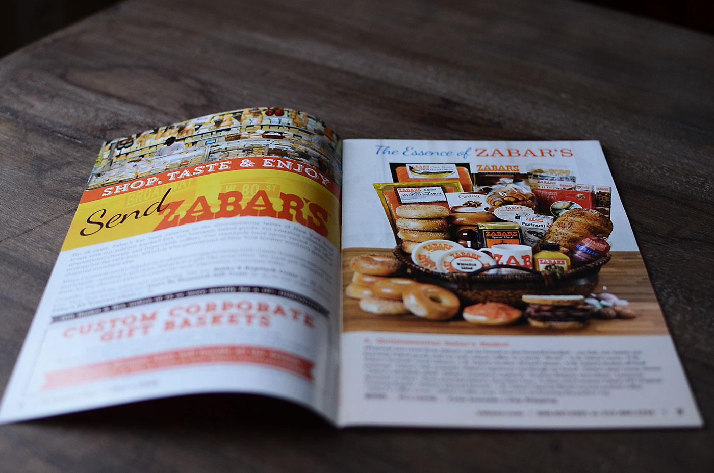Zabar's Catalog interior page Design