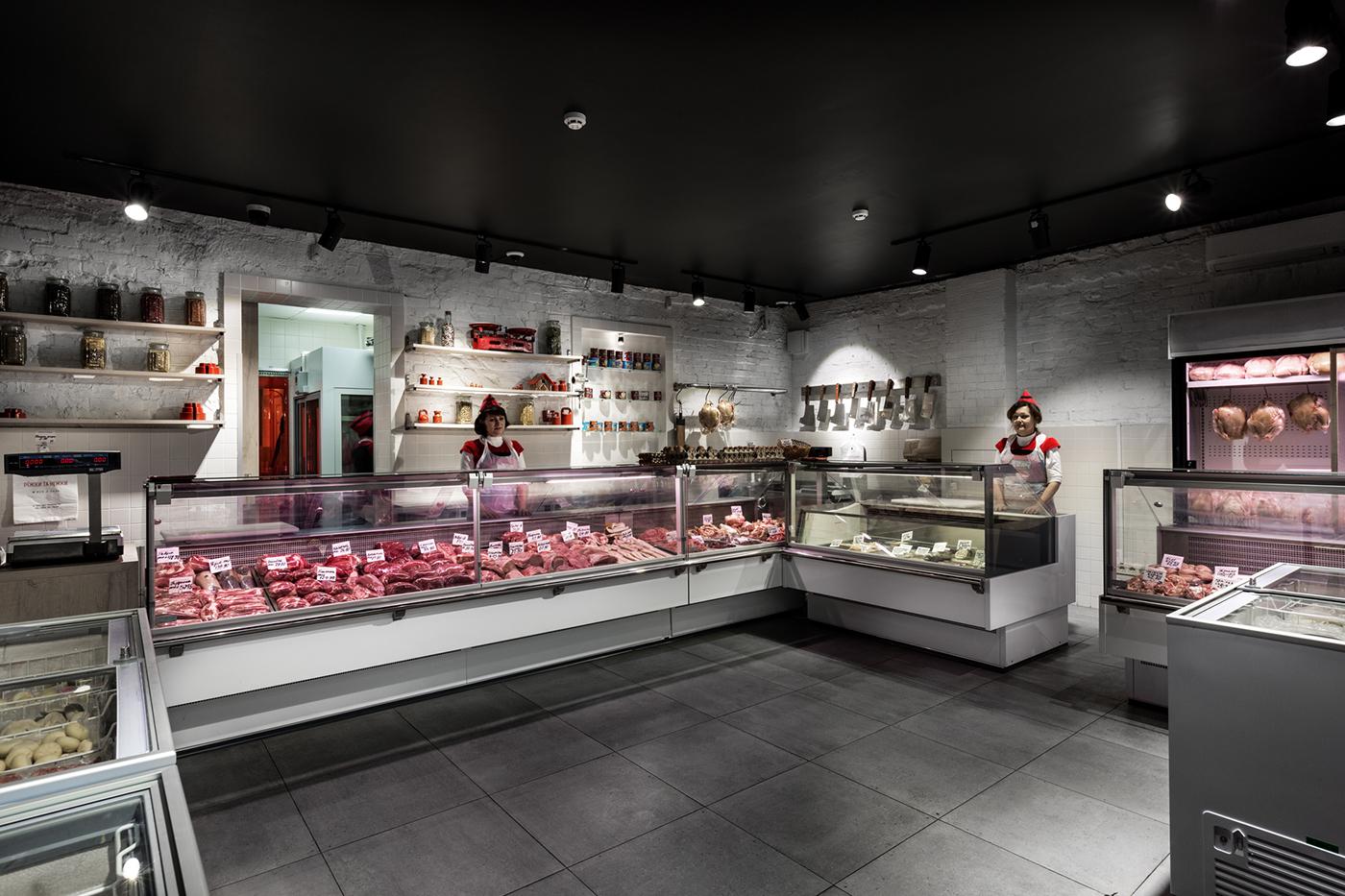 Фото дизайна мясного магазина