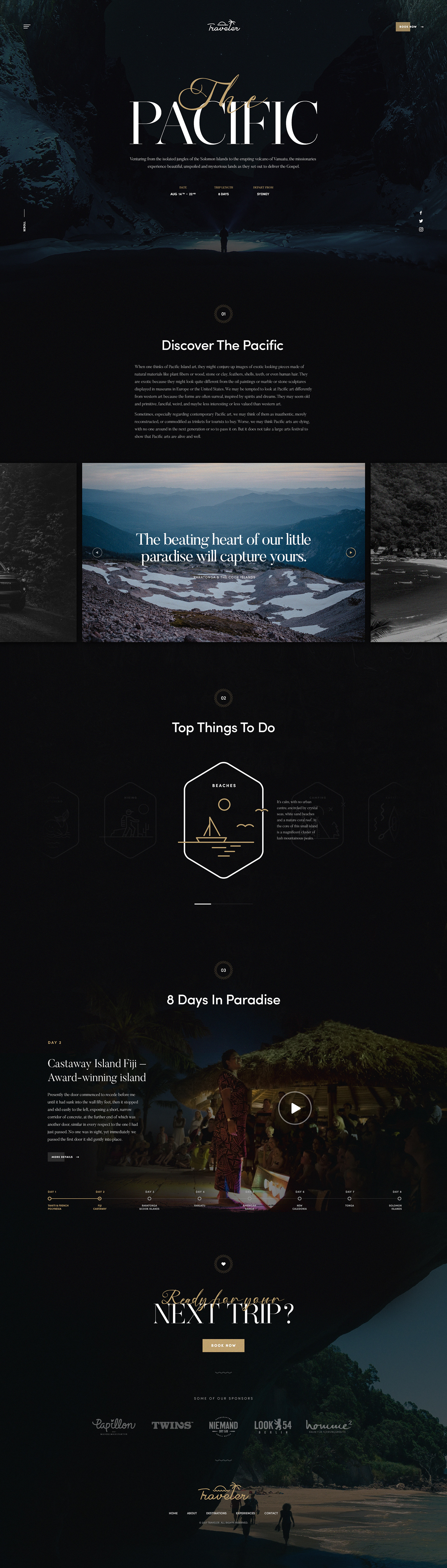 Travel Guide tour typography   Photography  UI ux Web Design