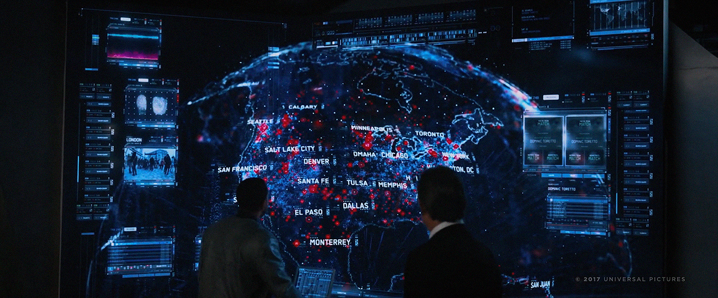 UI Interface FUI code HUD Scifi future map ai hacker