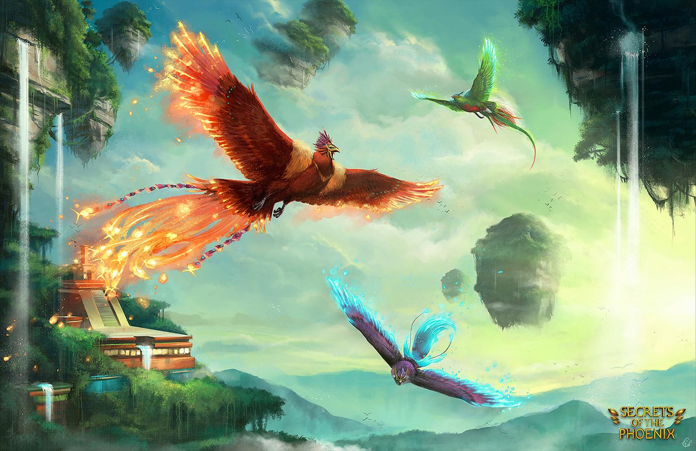 камни картинки фэнтези птицы высокой плотности