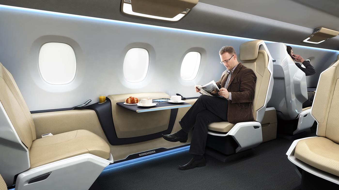 business jet cabin concept on behance. Black Bedroom Furniture Sets. Home Design Ideas