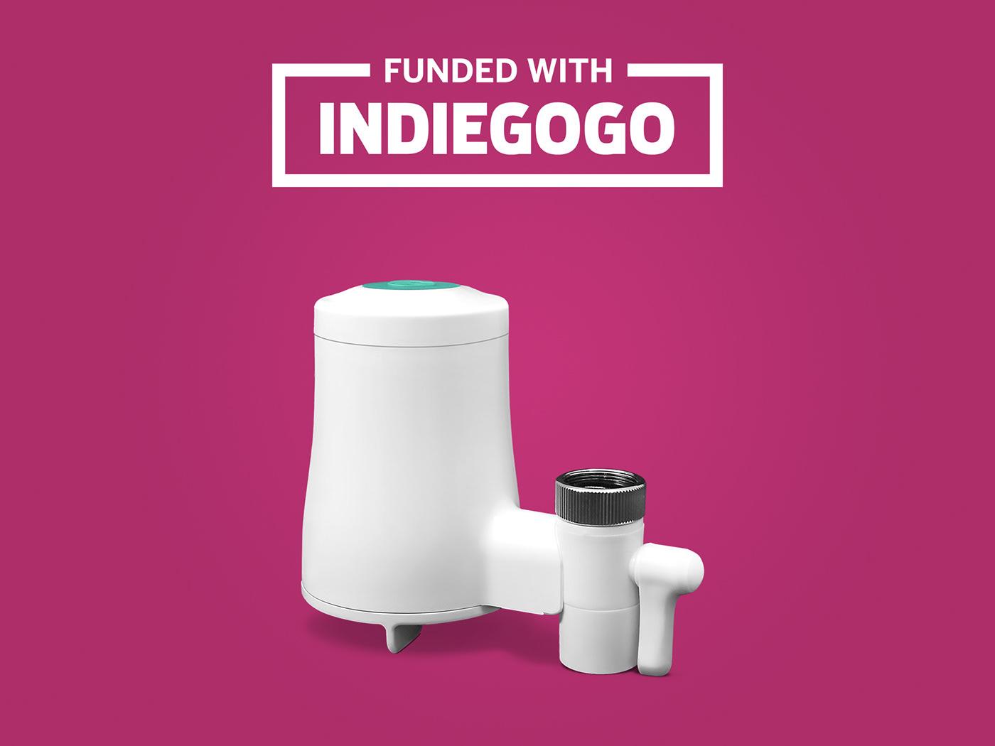 crowdfunding graphic design  product design  tapp 2 UI ux Web Design