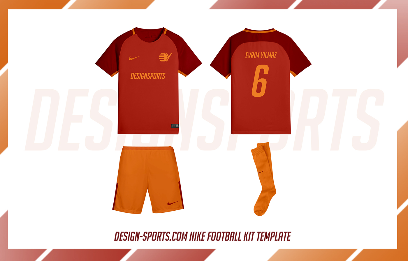 Free Nike Football Kit Template Psd Download On Behance