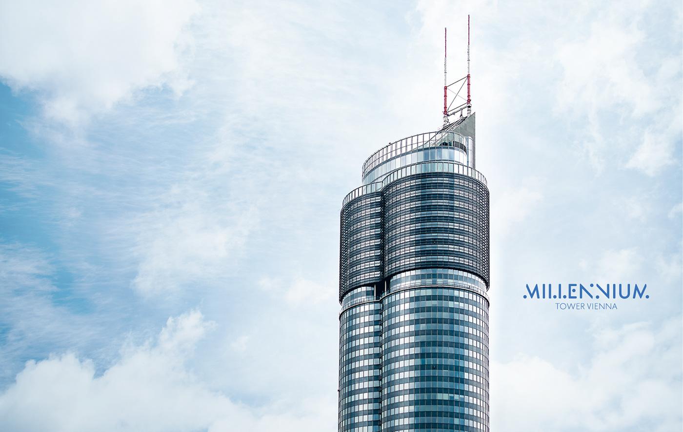 editorial design  Creative Direction  vienna Millennium Tower Photography  strategy Roommmetsfreiland real estate skyscraper ILLUSTRATION