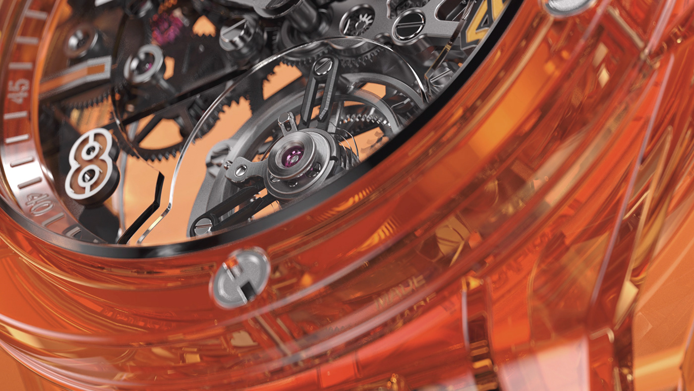 3d animation 3d design 3d film animation  art direction  Creative Direction  design hublot motion graphics  watch
