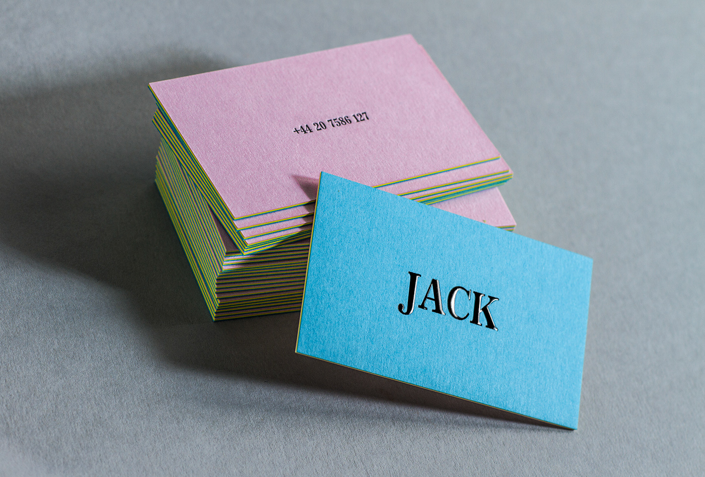 3PLY Business cards with Embossing and Letterpress on Behance
