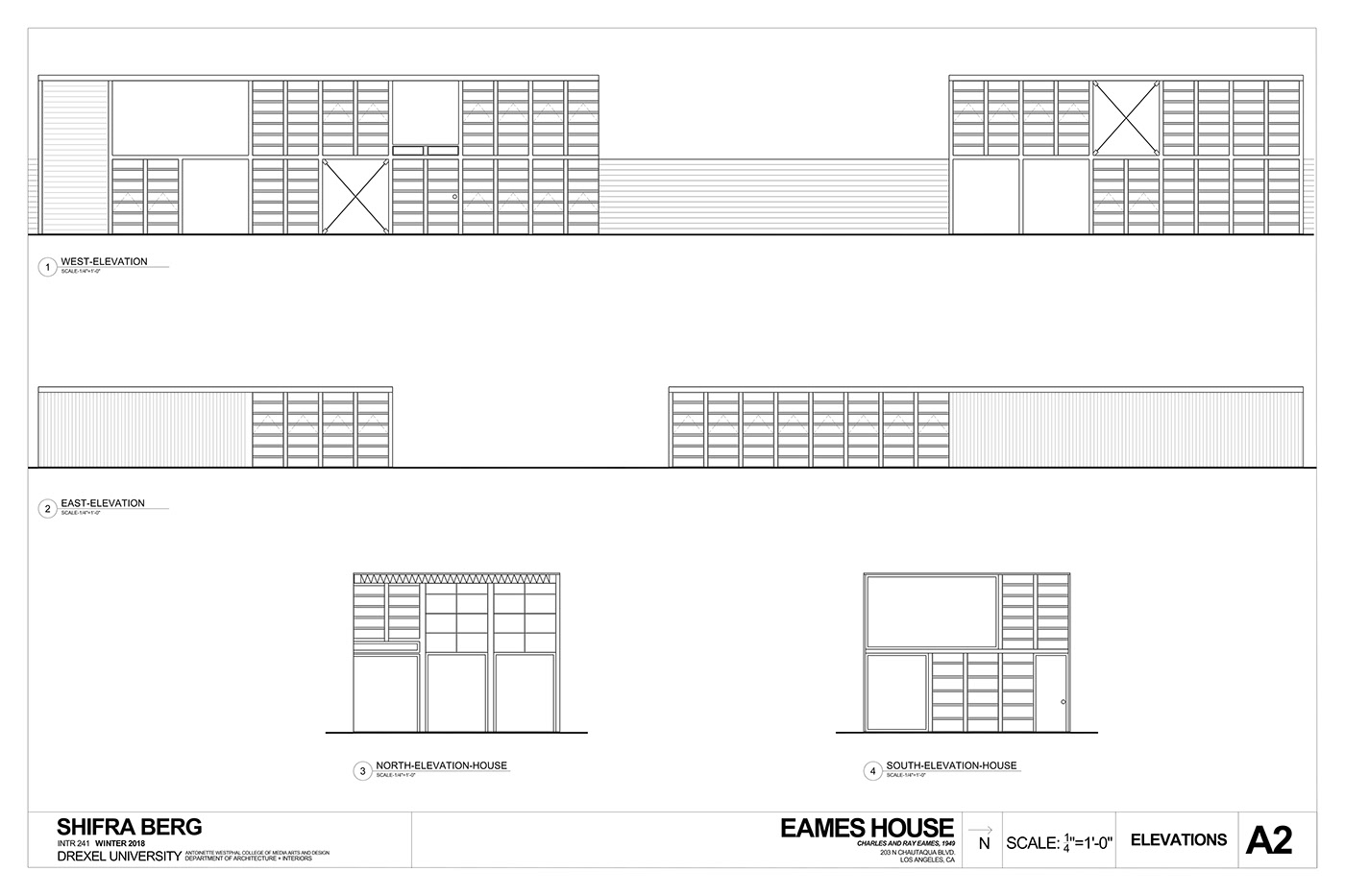 Eames House CAD Drawings on Behance  Eames House CAD...