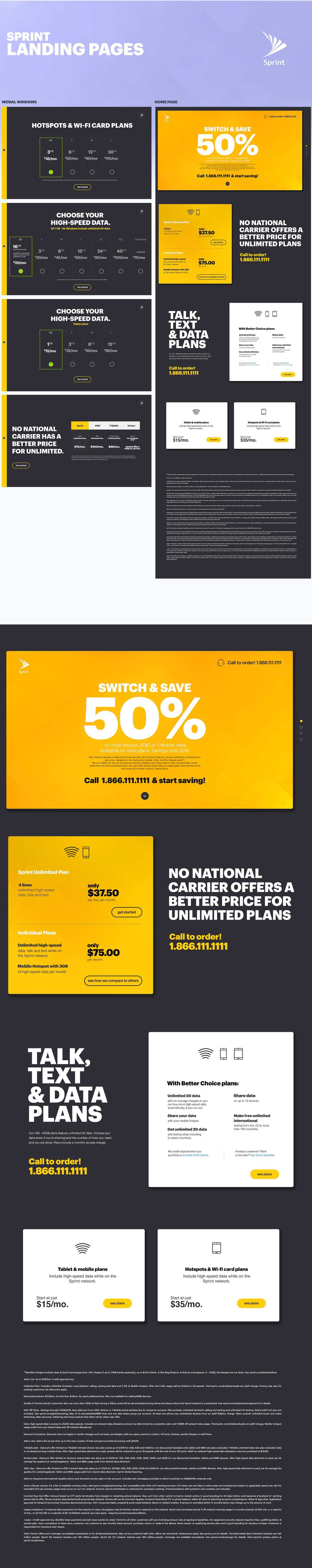 landign page Prototyping site ui colors flat colors minimal page clean type