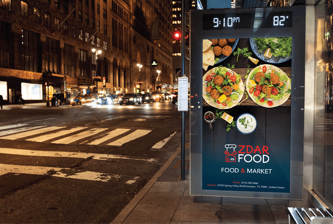 brand branding  creative Food  logo market minimal modern restaurant zdar