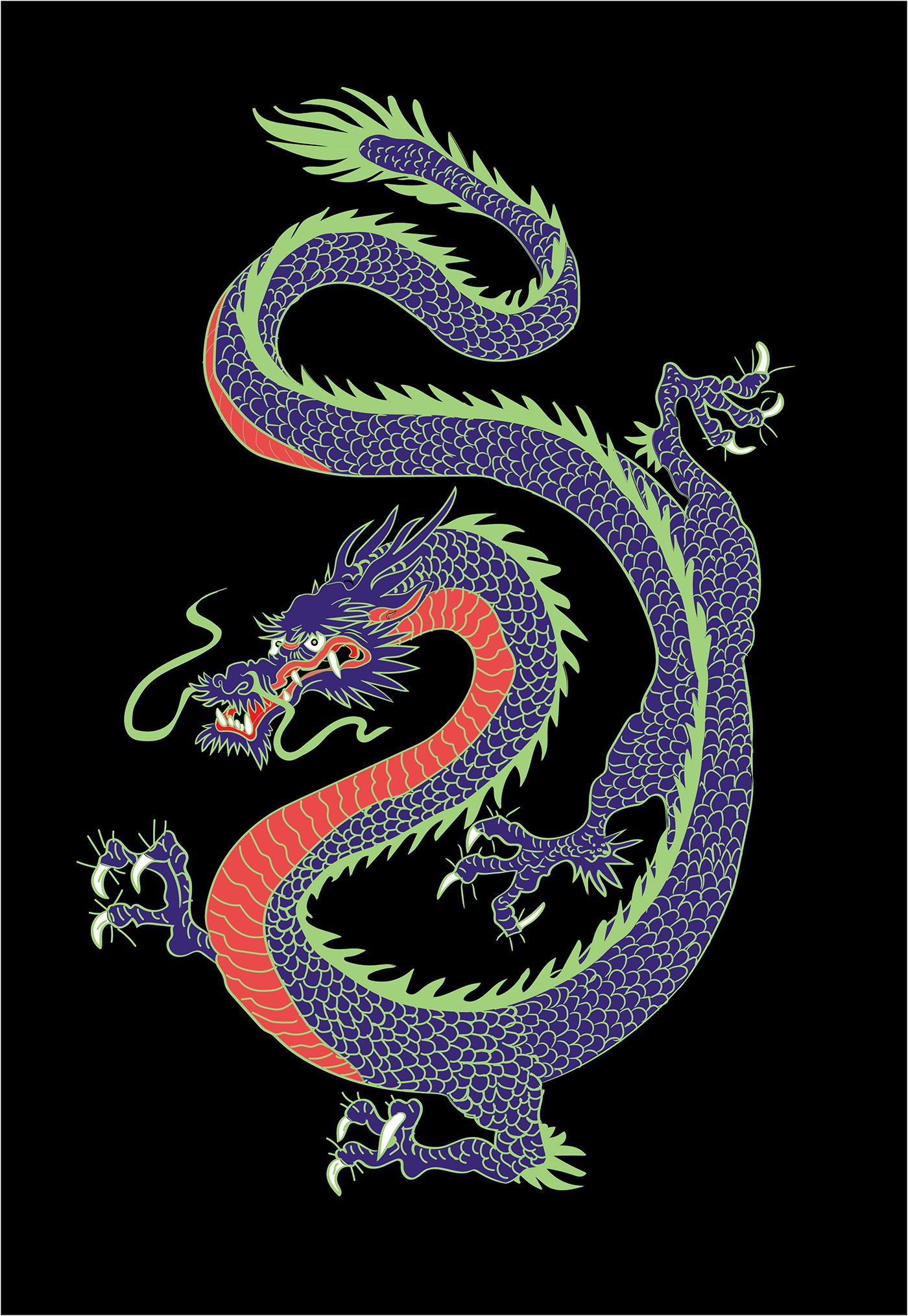 китайский дракон картинки для телефона можешь обалдеть