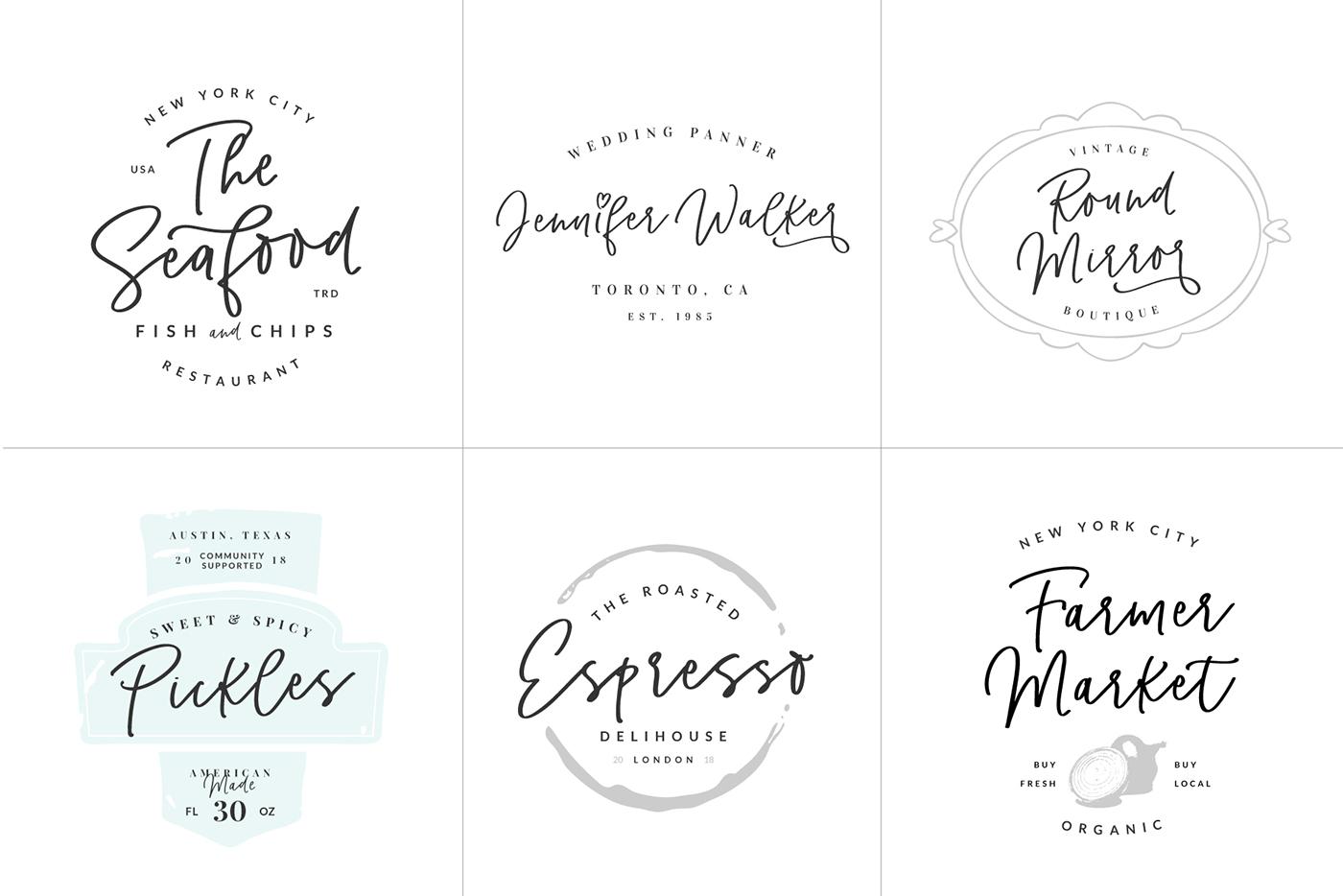 Get Pinot Handwritten Font Logos Now
