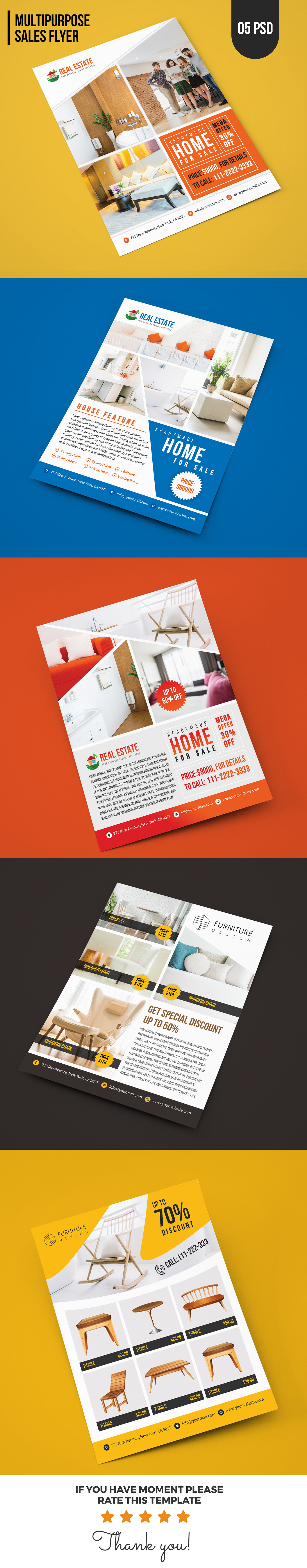 Real Estate / Furniture Sales Flyer Template by createuiux ...
