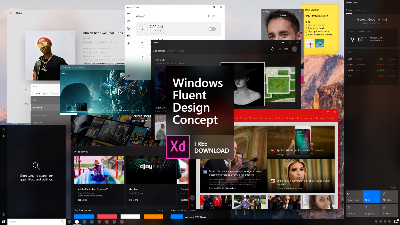 windows fluent adobe xD free download Microsoft ms