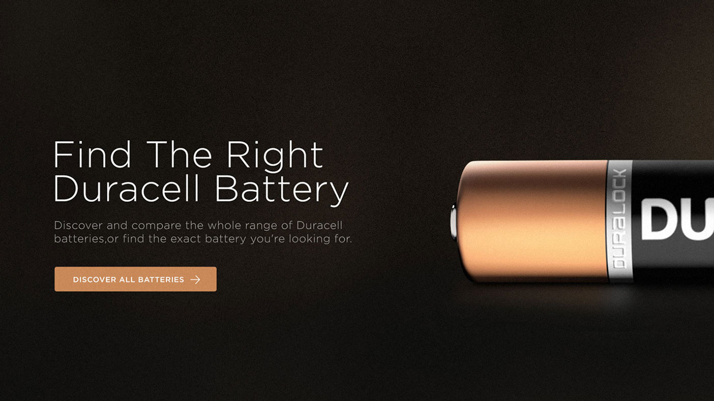 DURACELL Layout mobile UI desing ux interaction