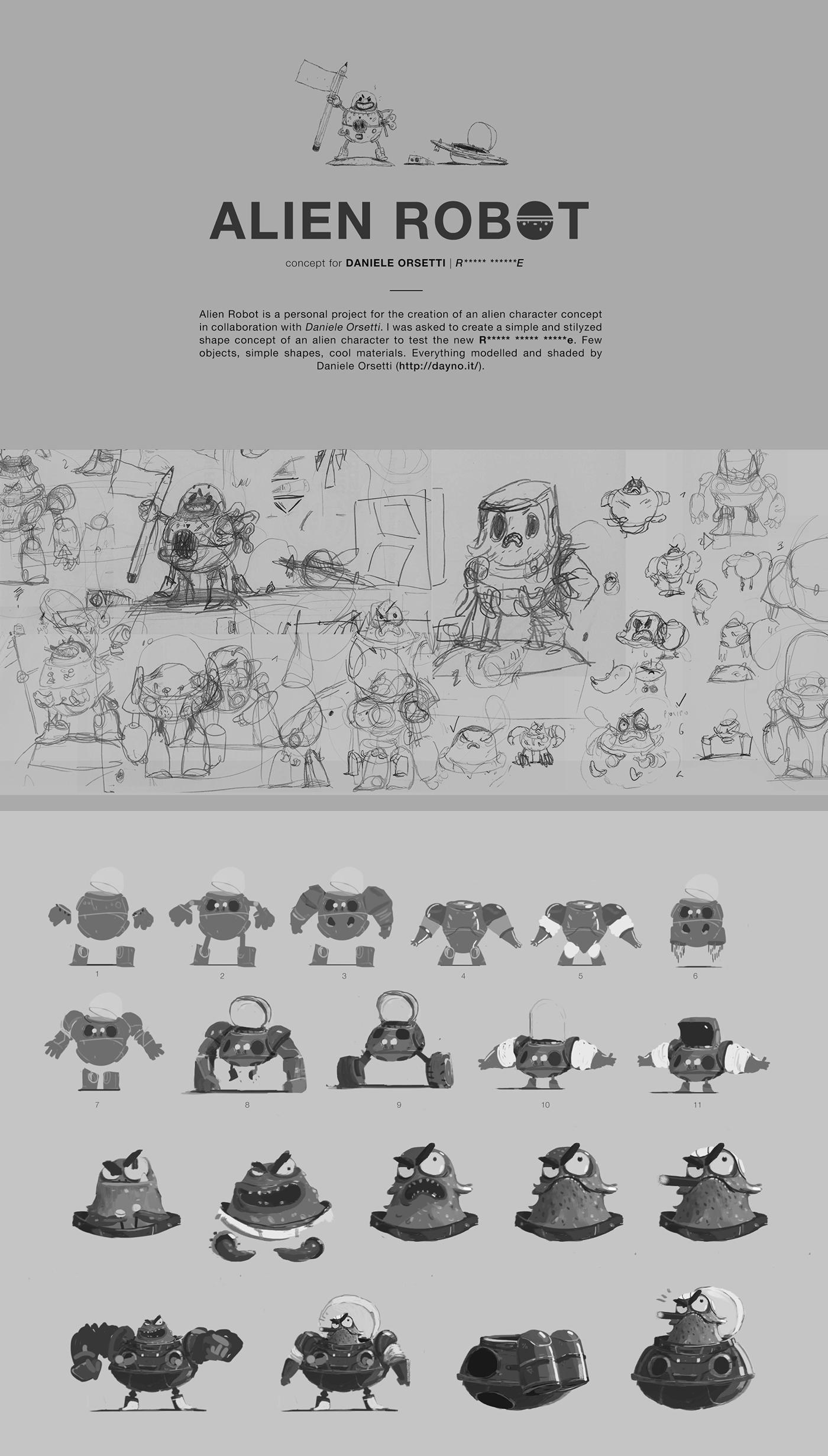 Alien Robot Character Concept On Behance