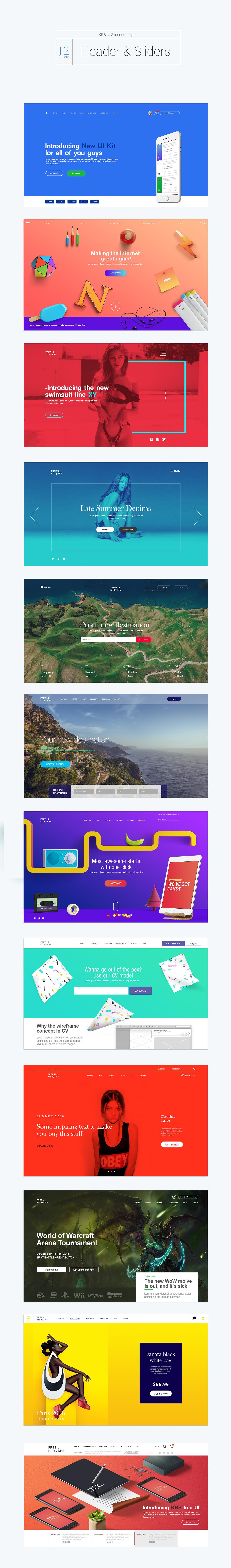 ui kit UI ux adobe free flat Ecommerce KRS shop KRS design