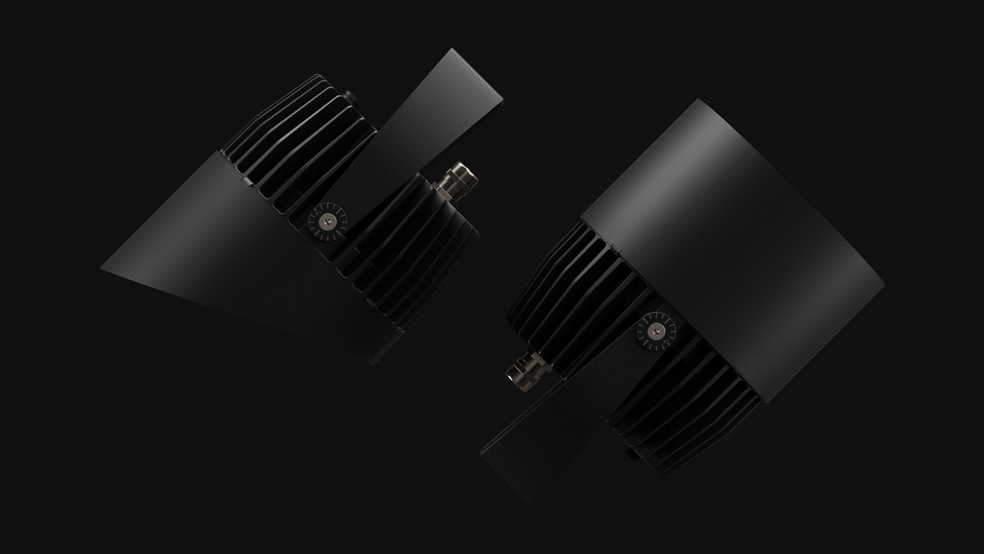 ADV blender dark design Griven industrial led light motion design Render