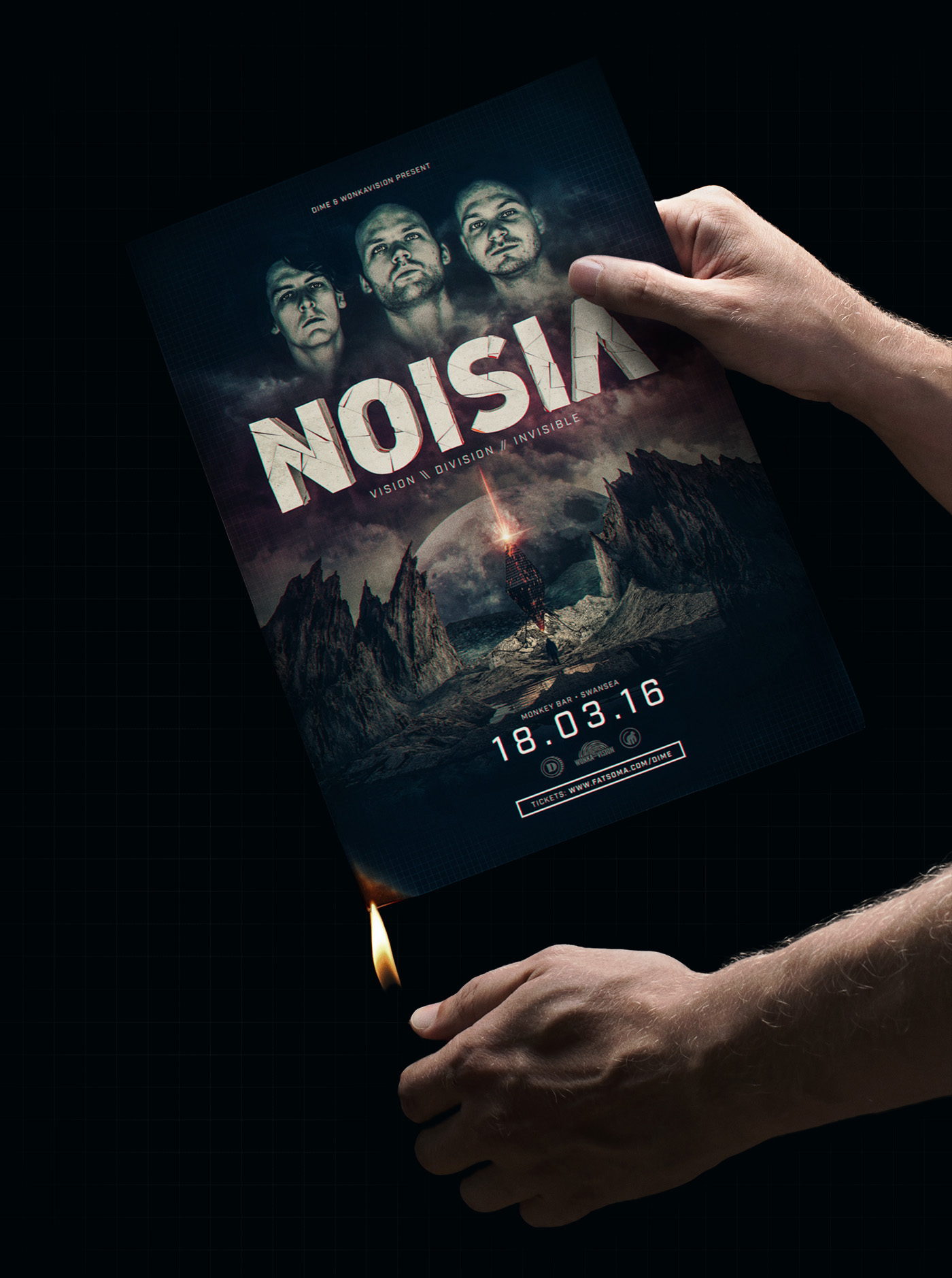 noisia DnB Drum and Bass night Event cinema 4d c4d sci-fi poster alien enviroment crystal free