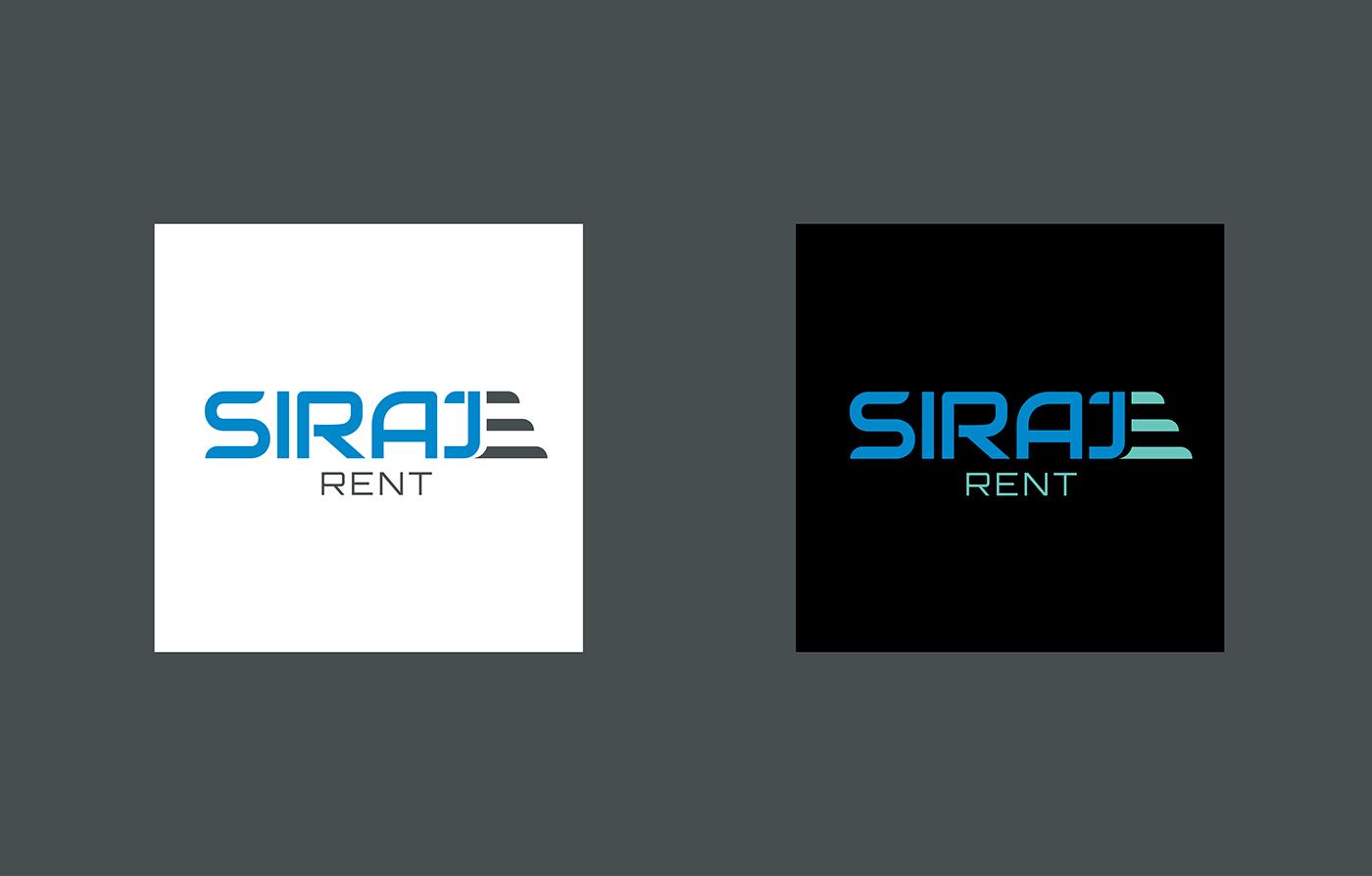 brand branding  car car renting creative design graphic design  logo rent a car siraj