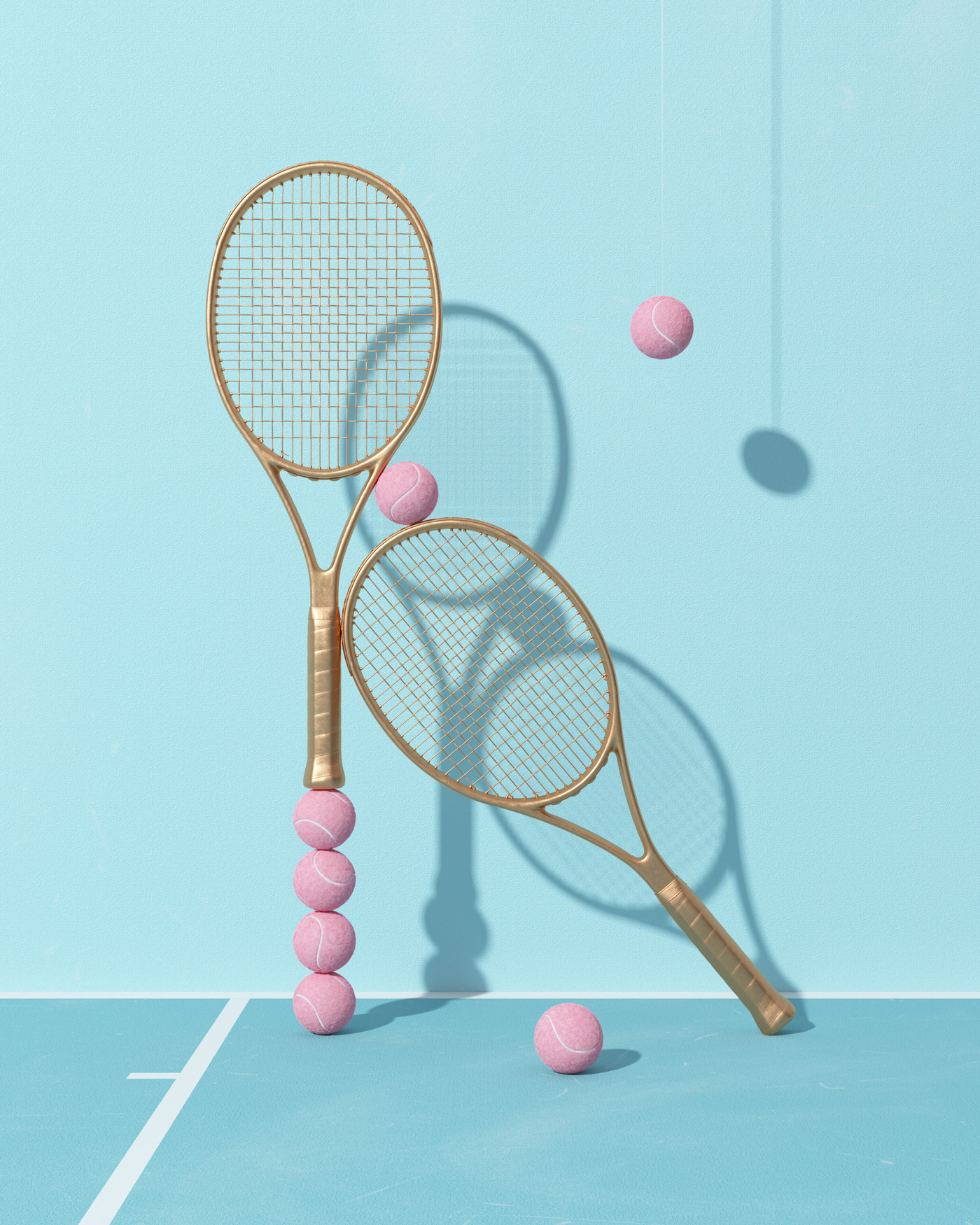 Tennis Illustration Series