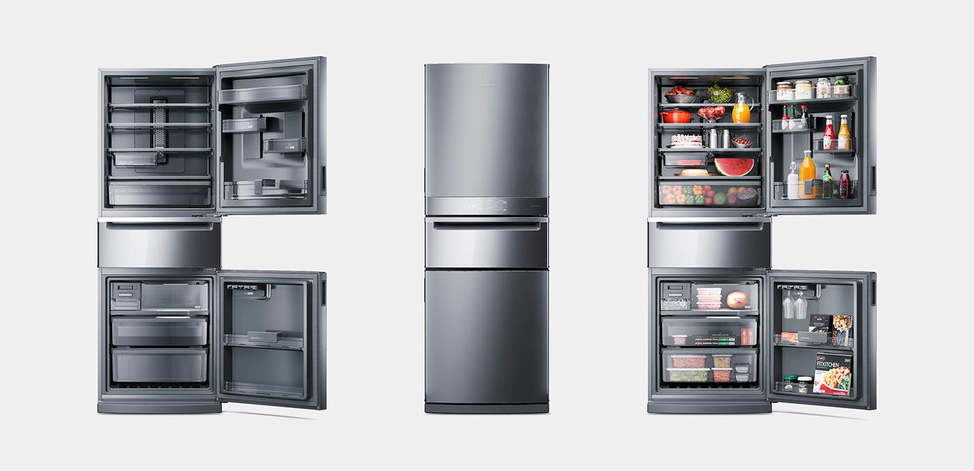 brastemp Miagui 3D animation  postproduction CGI refrigerator ovens cooker kitchen