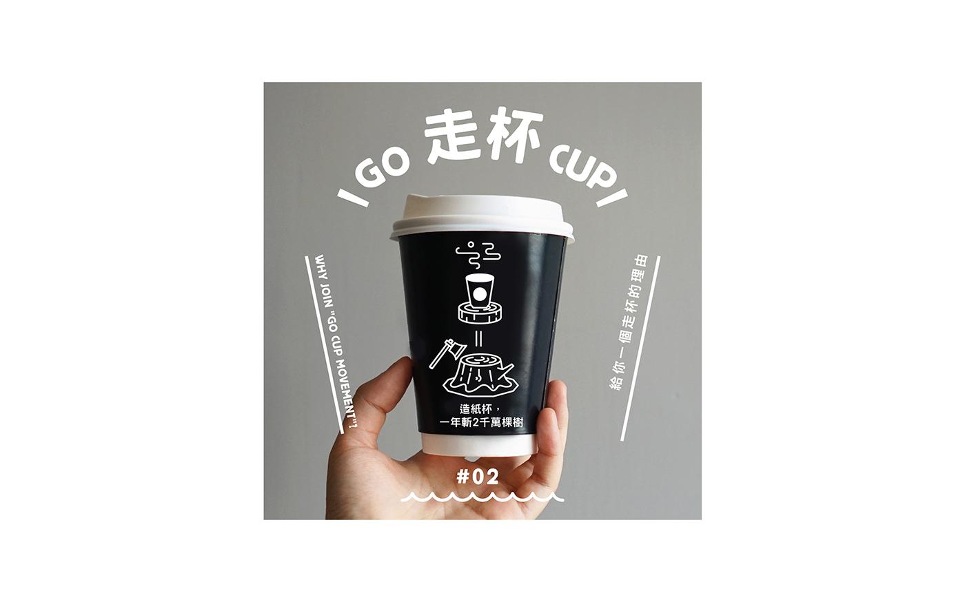 environmental protection cup cute Character green Exhibition  visual identity graphic Hong Kong NGO